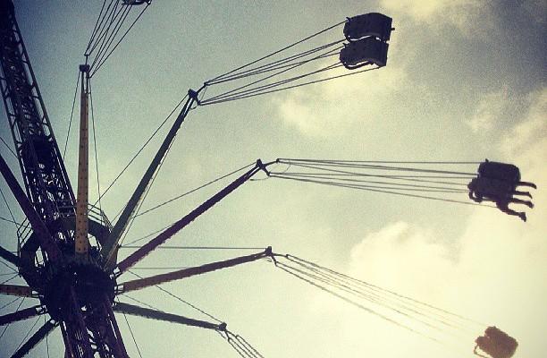 Hegaldia #tiovivo #atracciones #barakaldokojaiak #volar #cielo – Instagram
