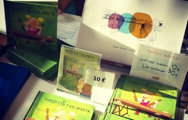 #Ipuinak, #CD-ak, #liburu #didaktikoak, #ilustrazioak… #Haladzipo-ren #stand-a kulturaz blai! #duangoazoka #azoka48 – Instagram