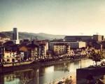 Trenez ikuspegi ederra #Bilbao #itsasadarra #zorrozaurre #olabeaga #ibaia #ura #eguzkia #sanmamesberria #Iberdroladorrea – Instagram