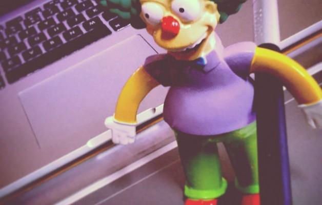#Diseñar está bien, pero diseñar con #Krusty no tiene precio,